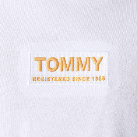 Tommy Jeans - Tee Shirt High Neck Logo 8442 Blanc