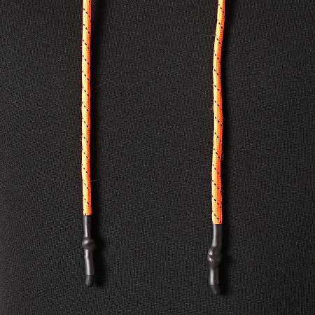 LBO - Sweat Capuche Details Tech Orange 1208 Noir
