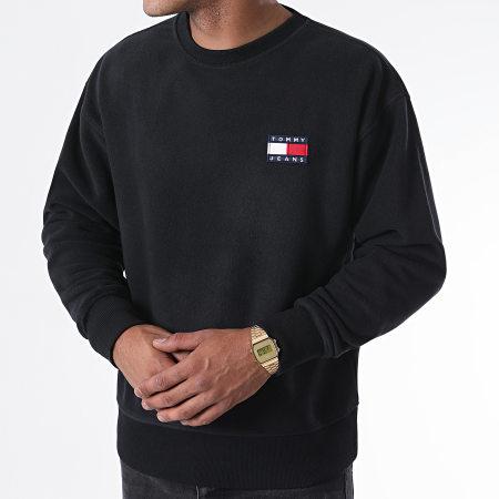 Tommy Hilfiger Jeans - Sweat Crewneck Polar Fleece Badge 8728 Noir