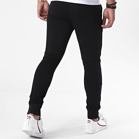 Da Uzi - Pantalon Jogging Logo Noir Jaune Fluo