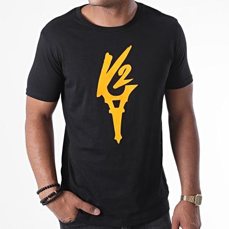 Da Uzi - Tee Shirt Logo Noir Orange Fluo
