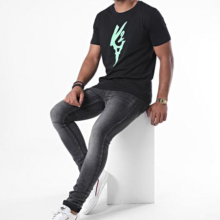 Da Uzi - Tee Shirt Logo Noir Vert Fluo