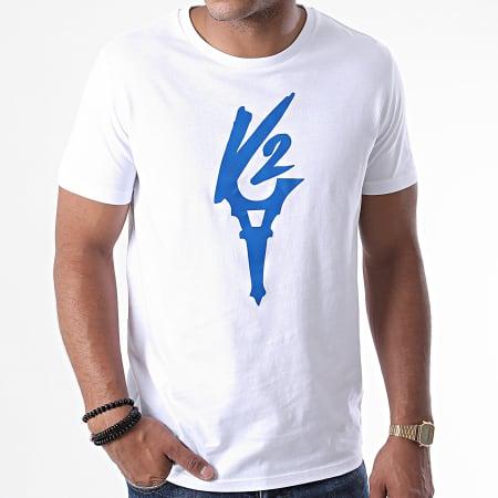 Da Uzi - Tee Shirt Logo Blanc Bleu