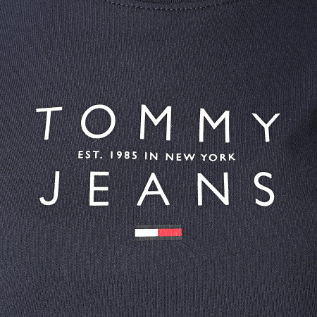Tommy Jeans - Tee Shirt Manches Longues Femme Essential Logo 8667 Bleu Marine