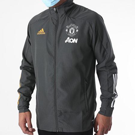 adidas - Veste Zippée Manchester United FC Presentation FR3661 Vert Kaki