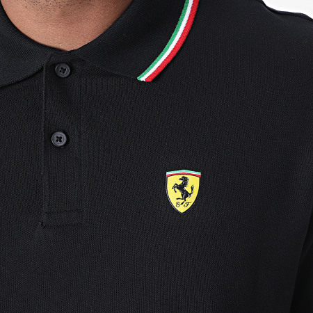 Scuderia Ferrari - Polo Manches Courtes Tricolore 130171023 Noir