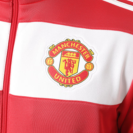 adidas - Veste De Sport A Bandes Manchester United FC FR3849 Rouge