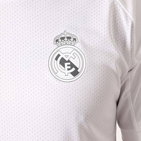 adidas - Tee Shirt De Sport A Bandes Real FQ7851 Blanc