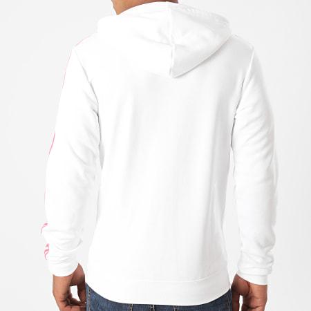 adidas - Sweat Zippé Capuche A Bandes Real GH9995 Blanc