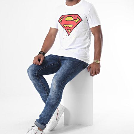 Superman - Tee Shirt Splatter Blanc