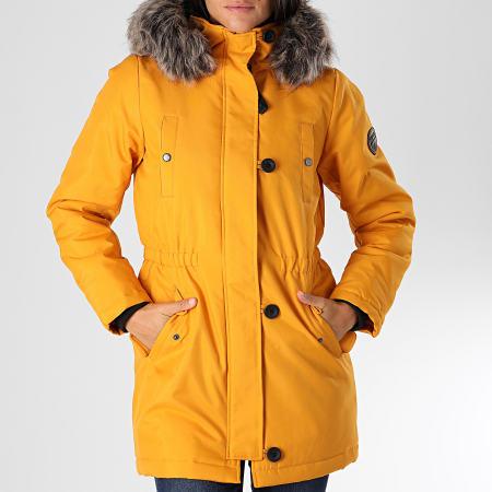 Only - Parka Fourrure Femme Iris Fur Winter Jaune