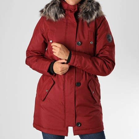 Only - Parka Fourrure Femme Iris Fur Winter Bordeaux