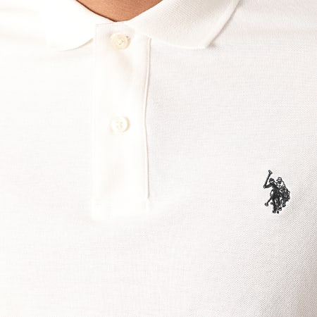 US Polo ASSN - Polo Manches Longues Institutional Ecru
