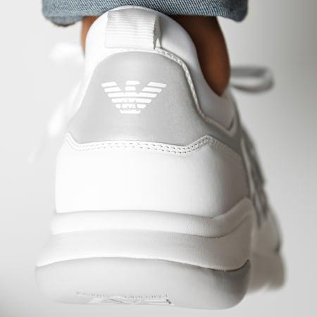EA7 - Baskets X8X057-XCC55 White Silver