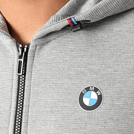 Puma - Sweat Zippé Capuche BMW Motorsport 598001 Gris Chiné
