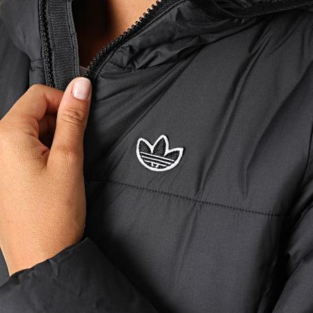adidas - Doudoune Capuche Femme A Bandes GD2507 Noir