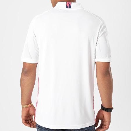 adidas - Tee Shirt Col V A Bandes Real Home FM4735 Blanc