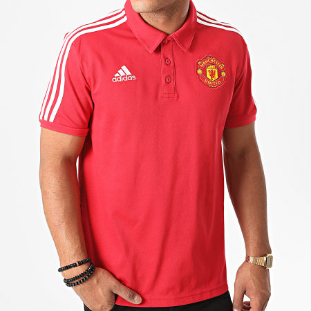 Manchester United Polo de football manches courtes homme Rouge FR Taille Fabricant : M M