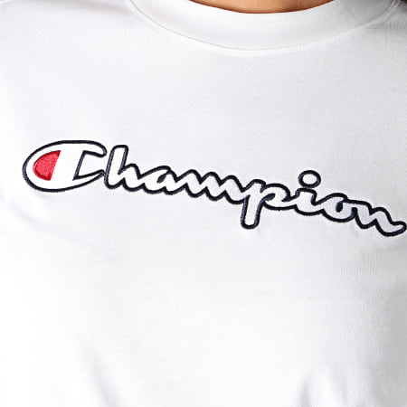 Champion - Tee Shirt Femme 113194 Blanc