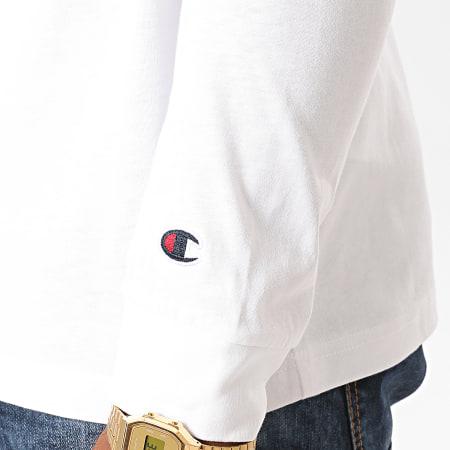 Champion - Tee Shirt Manches Longues 214725 Blanc