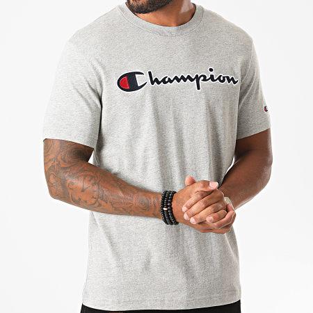 Champion - Tee Shirt 214726 Gris Chiné