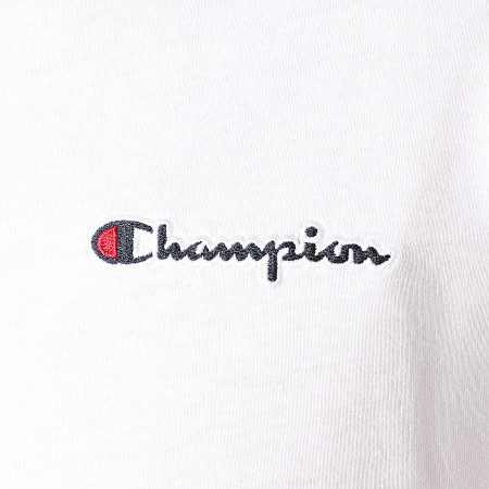 Champion - Tee Shirt Manches Longues 214782 Blanc
