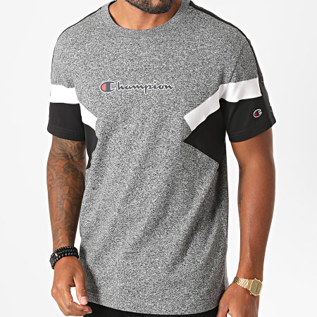Champion - Tee Shirt Tricolore 214789 Gris Anthracite Chiné