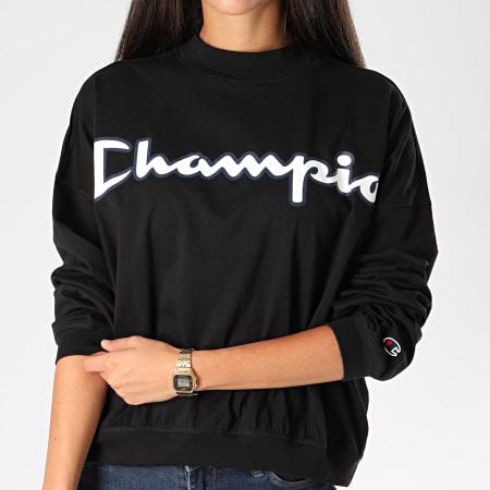 Champion - Tee Shirt Manches Longues Femme 113197 Noir