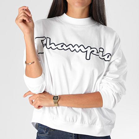 Champion - Tee Shirt Manches Longues Femme 113197 Blanc
