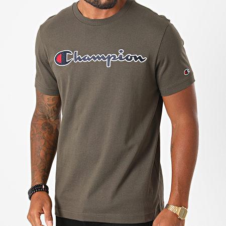 Champion - Tee Shirt 214726 Kaki Foncé