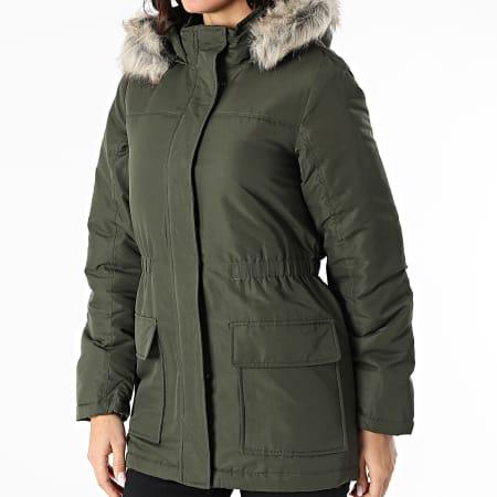 Only - Parka Fourrure Femme Star Winter Pocket Vert Kaki