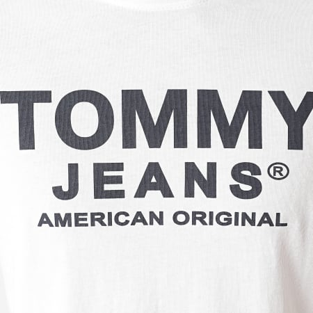 Tommy Jeans - Tee Shirt Essential Front Logo 8349 Blanc