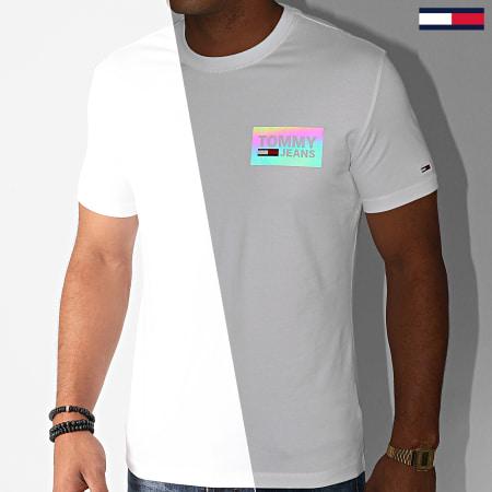 Tommy Hilfiger Jeans - Tee Shirt Stretch Box Logo 8301 Blanc