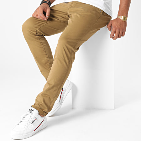 Only And Sons - Pantalon Chino Will Life Beige Foncé