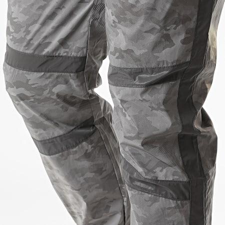Project X - Pantalon Jogging Réfléchissant Camouflage A Bandes 2040091 Gris Noir
