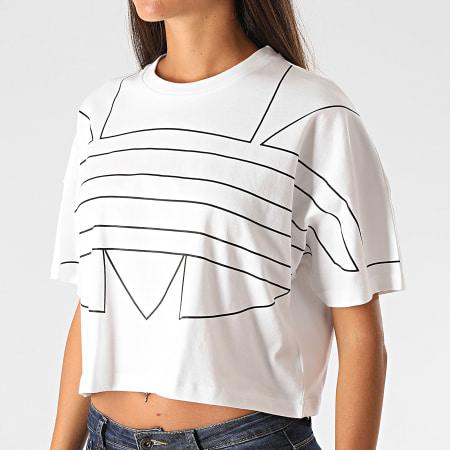adidas - Tee Shirt Femme Large Logo GD2358 Blanc