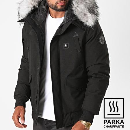 Comme Des Loups - Parka Fourrure Chauffante Chicago Noir