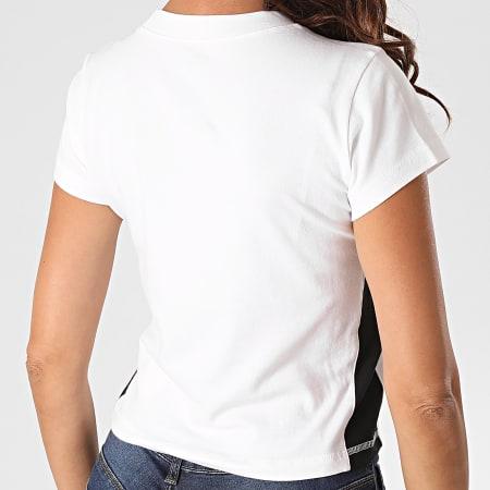 Champion - Tee Shirt Femme A Bandes 113384 Blanc