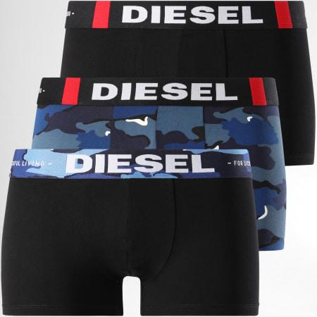 Diesel - Lot de 3 Boxers Damien 00ST3V Bleu Noir