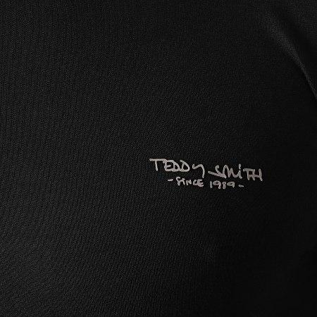 Teddy Smith - Tee Shirt Manches Longues The Tee Noir