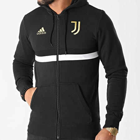 adidas - Sweat Zippé Capuche Juventus FR4234 Noir