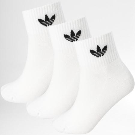 adidas - Lot De 3 Paires De Chaussettes FT8529 Blanc