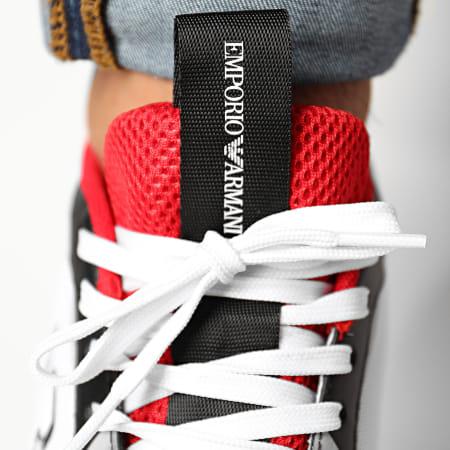 Emporio Armani - Baskets X4X325-XM521 Black White Red