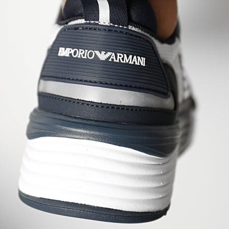 Emporio Armani - Baskets X4X325-XM521 Navy White Silver