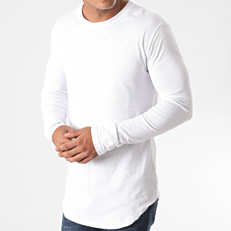 Frilivin - Tee Shirt Manches Longues Oversize 2091 Blanc