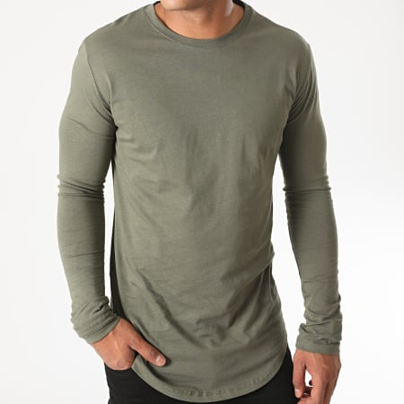 Frilivin - Tee Shirt Manches Longues Oversize 2091 Vert Kaki