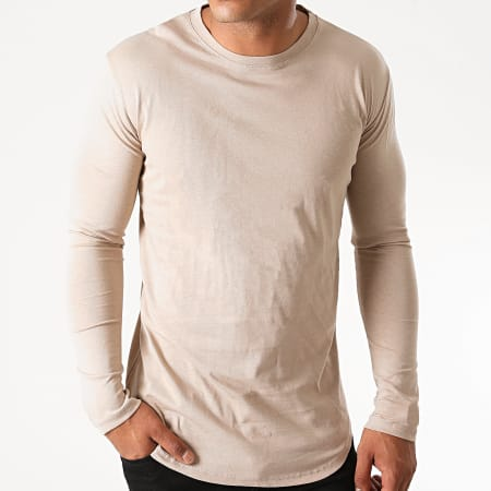 Frilivin - Tee Shirt Manches Longues Oversize 2091 Beige