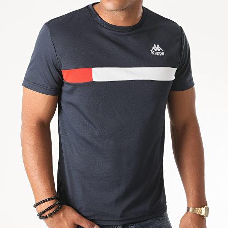 Kappa - Tee Shirt Slim Impro Bleu Marine