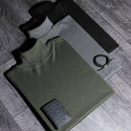 LBO - Pull Col Roulé JUM-76 Noir
