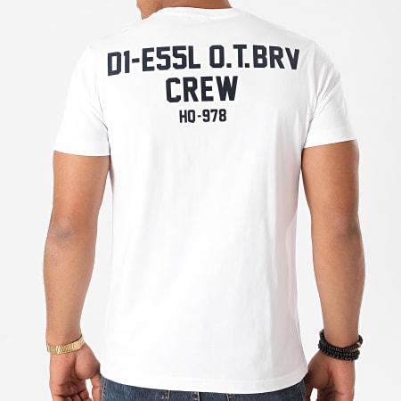 Diesel - Tee Shirt Diegos A01062-0HAYU Blanc